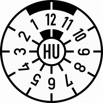 HU-Plakette blanko